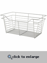 Sliding Wire Closet Basket 23x11x14