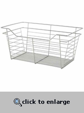 Sliding Wire Closet Basket 23x17x14