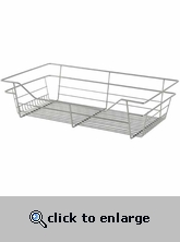 Sliding Wire Closet Basket 23x6x14