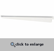 White Solid Shelf Bracket - 12.5 Inch