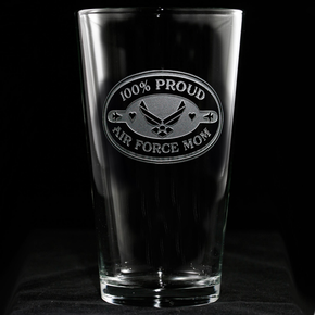Air Force Mom Pint Pub Beer Glass