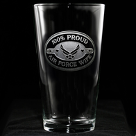 Air Force Wife Pint Pub Beer Glass