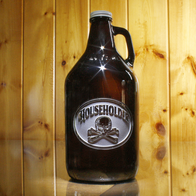 Beer Growler, Skull and Bones