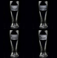 Best Man Groomsman Pilsner Beer Glasses