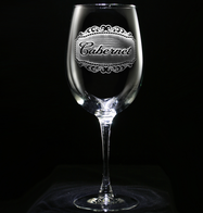 Cabernet Wine Glass Custom Engraved