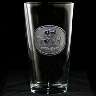 Business Logo Engraved Pub Pint Glasses