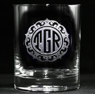 Custom Monogrammed Personalized Whiskey Scotch Glasses