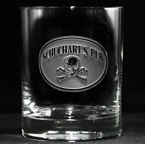 Customized Skull and Bones Whiskey Glass