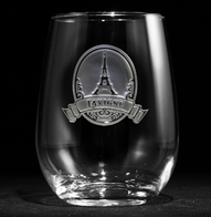 Eiffel Tower Stemless Wine Glass
