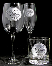 Engraved Corporate Logo Promotional Bar Glasses, Barware Gifts