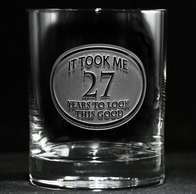Engraved Birthday Whiskey Glass