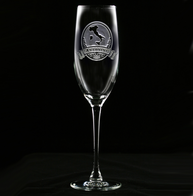 Engraved Italian Champagne Glass
