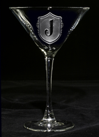 Engraved Martini Cocktail Glass