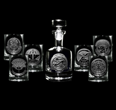 Engraved Military Barware Army, Navy, Marines, Air Force Gifts