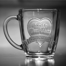 Engraved Custom Glass Coffee Mugs