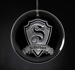Engraved Ornament, Personalized Shield