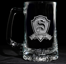 Engraved Personalized Monogrammed Beer Mugs