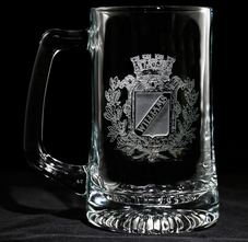 Engraved Personalized Monogrammed Beer Mugs, Bar Glasses