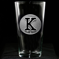 Monogrammed Pub Pint Glasses