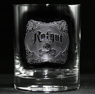 Engraved Rotgut Whiskey Glass