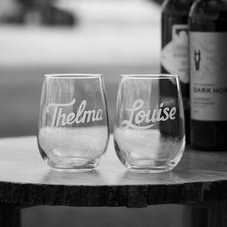 Engraved Stemless Wine Glasses for Women
