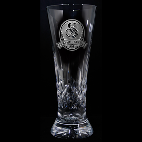 Engraved Waterford Crystal Pilsner, PAIR