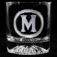 Monogrammed Whiskey Scotch Bar Glasses