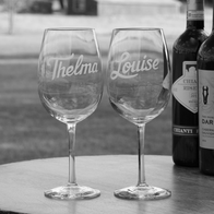 Engraved Wine Glasses for Women