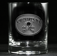 Skull and Cross Bones Whiskey Scotch Glasses