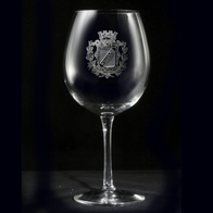Family Crest Red Wine Glass