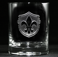 Fleur De Lis Whiskey Scotch Glass