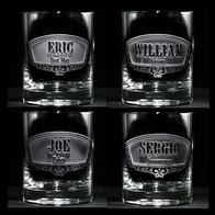 Groomsman, Best Man, Usher Engraved Whiskey Scotch Glass Gift Ideas