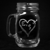 Heart Arrow Mason Jar Mug