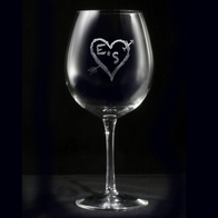 Heart Arrow Red Wine Glass