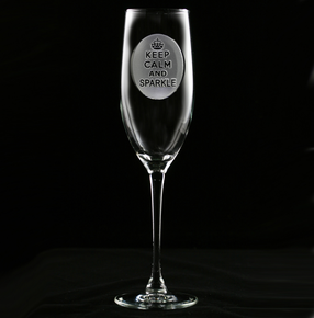 Keep Calm and Sparkle Champagne Flute