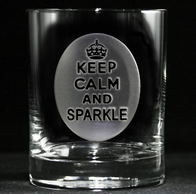 Keep Calm and Sparkle Scotch, Whiskey, Bourbon Glass