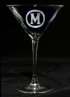 Monogram Cocktail Glass