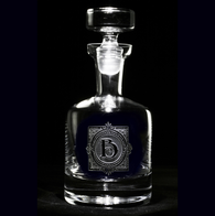 Monogrammed Engraved Scotch, Whiskey Decanter