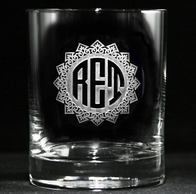 Monogrammed Personalized Whiskey Scotch Bourbon Glasses