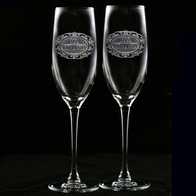 Mr. and Mrs. Champagne Flutes