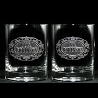 Mr. and Mrs. Scotch Whiskey Glass Set