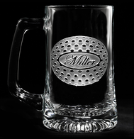 Personalized Golf Ball Engraved Beer Glass Mugs