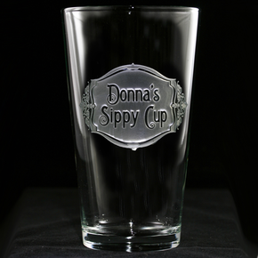 Personalized Sippy Cup Pint Pub Glass