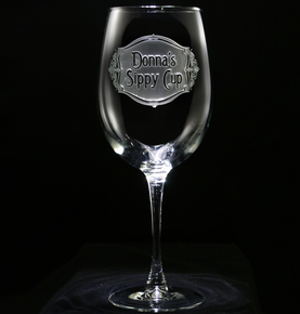 Personalized Sippy Cup Wine Glass