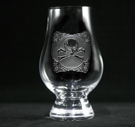 Skull and Crossbones Glencairn Whisky Glass