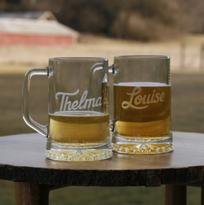 Thelma and Louise Beer Mug Set, Best Friend Gifts