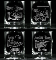 Three Fingers Whiskey Glass Set