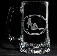 Trucker Mudflap Girl Beer Mug