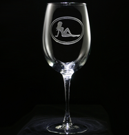 Trucker Mudflap Girl Wine Glass
