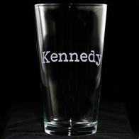 Typewriter Font Personalized Pint Pub Glass